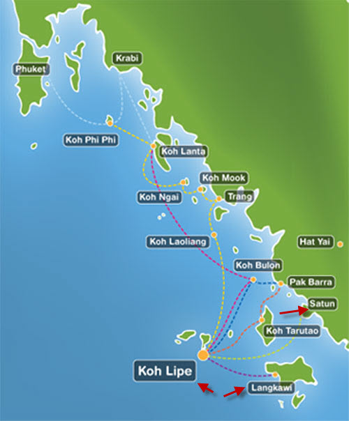 马来西亚兰卡威来往泰国丽贝岛的交通